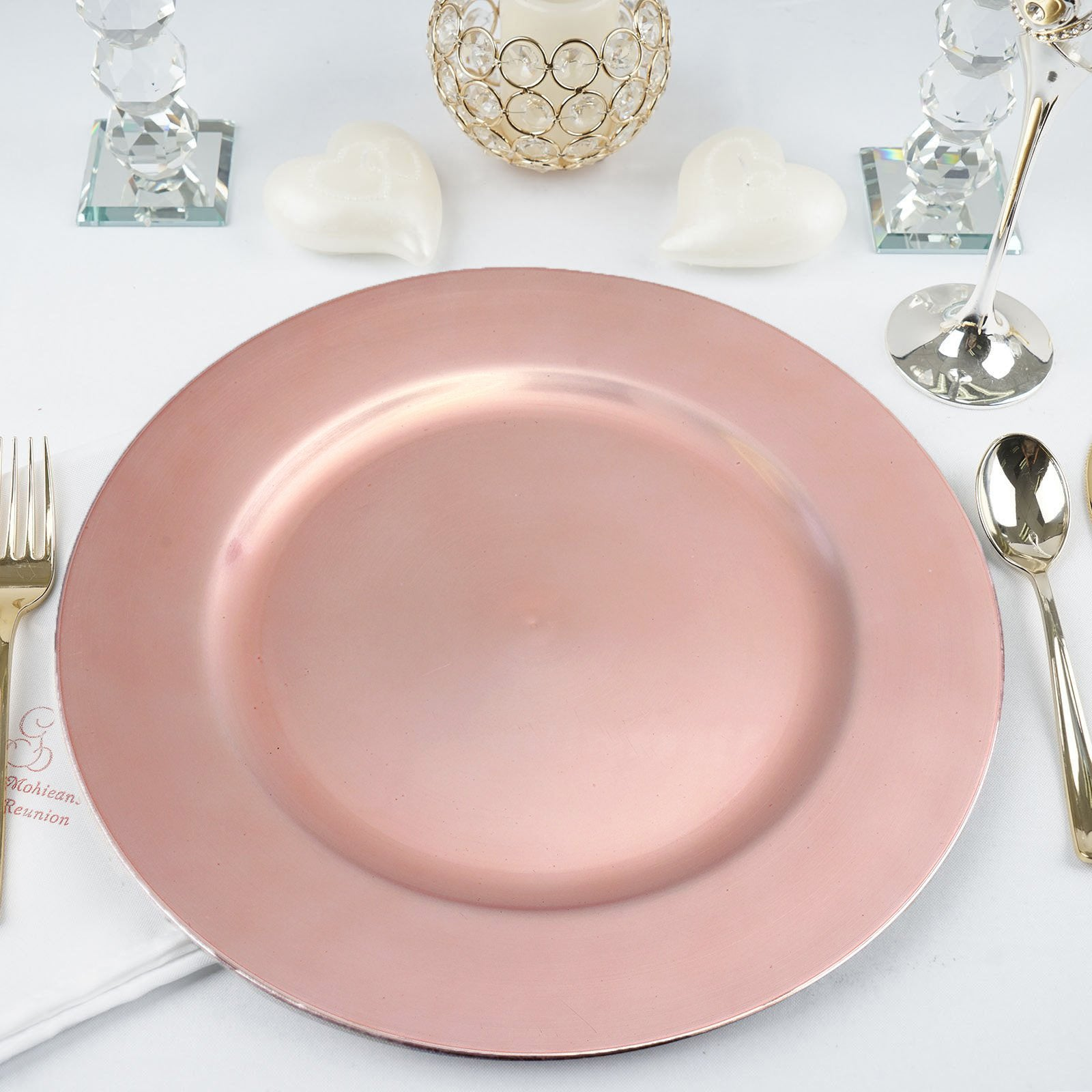 6 Pack 13  Blush Acrylic Round Charger Server Plate Dinnerware  sc 1 st  eFavormart.com & 6 Pack 13