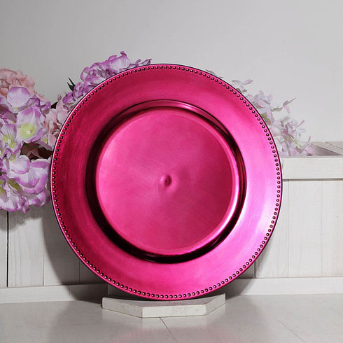 Acrylic Beaded Charger Plates, Dinner Plate Chargers