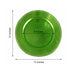 "6 Pack |13"" Lime Round Acrylic Beaded Charger Plates"