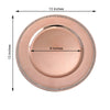 "Pack of 6 |13"" Round Acrylic Charger Plates With Rhinestones Blush 