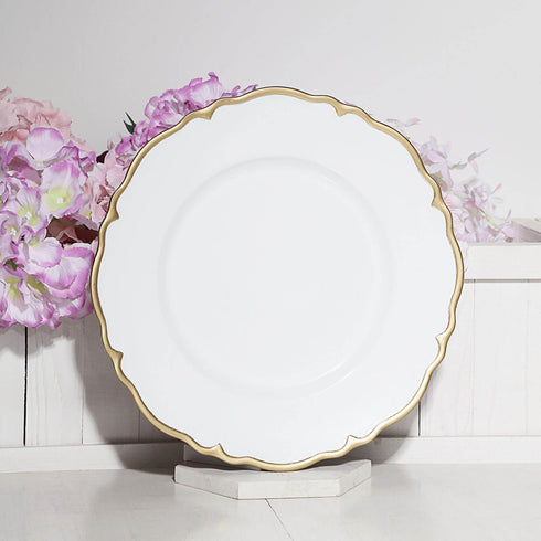 Scalloped Edge Charger Plates, Dinner Plate Chargers