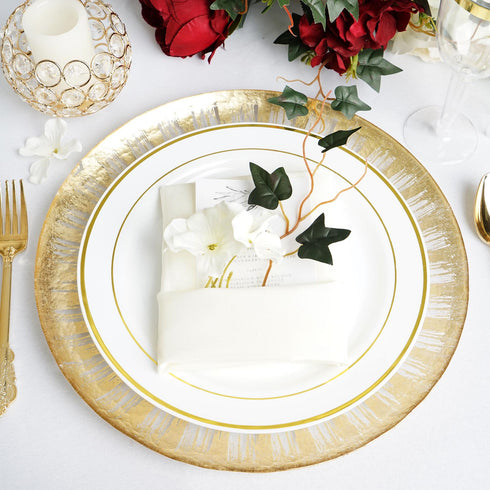 "8 Pack | 13"" Glass Charger Plates 