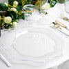 Scalloped Edge Charger Plates, Disposable Dinnerware