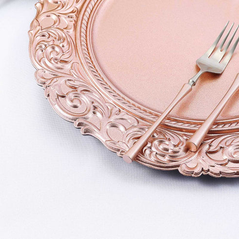 Baroque Plastic Charger Plates, Dinner Plate Chargers