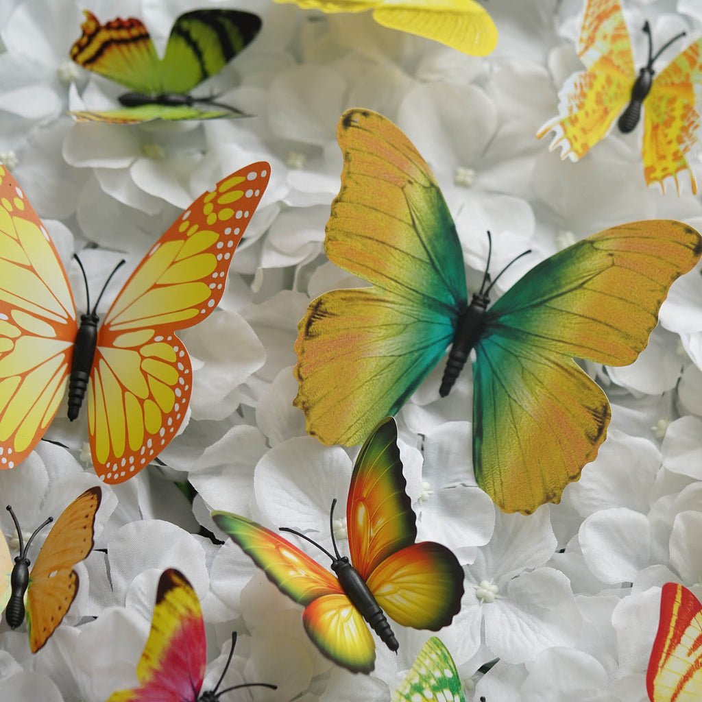 12 Pack 3D DIY Butterfly Wall Decoration Stickers - Yellow ...