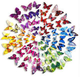 12 Pack 3D DIY Butterfly Wall Decoration Stickers - Purple Collection