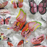 12 Pack 3D Double Wing DIY Butterfly Wall Decoration Stickers - Pestal Pink Collection
