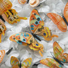12 Pack 3D Double Wing DIY Butterfly Wall Decoration Stickers - Orange Collection