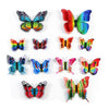 12 Pack 3D Double Wing DIY Butterfly Wall Decoration Stickers - Summer Collection