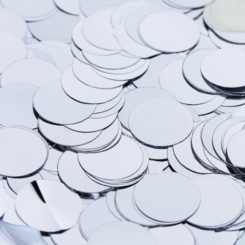 Silver Round Foil Metallic Table Confetti Dots, Balloon Confetti Decor