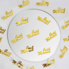 Metallic Foil Wedding-Party Just Married Confetti - 300 PCS-Gold