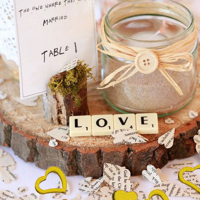 Metallic Foil Heart Confetti -  Gold - 300pcs