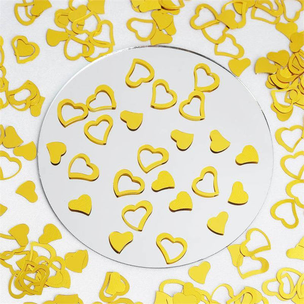 300 PCS Gold Metallic Foil Heart Confetti