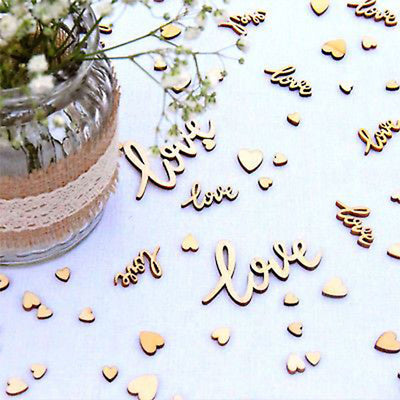 Metallic Foil Love Confetti -  Gold - 300pcs