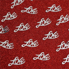 Metallic Foil Wedding-Party Love Confetti - 300 PCS-Silver