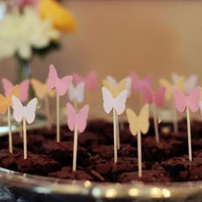 Metallic Foil Butterfly Confetti -  Gold - 300pcs