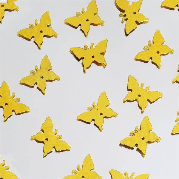 300 PCS Gold Metallic Foil Butterfly Confetti