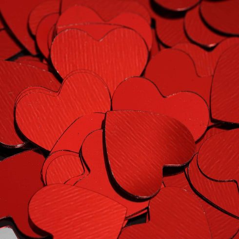 Dreamy Metallic Foil Wedding-Party Heart Confetti Sprinkles- 300 PCS-Red