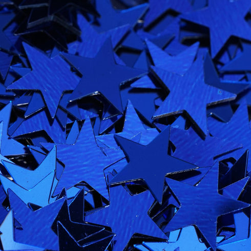 Twinkling Metallic Foil Wedding-Party Star Confetti Sprinkles-300 PCS-Royal Blue