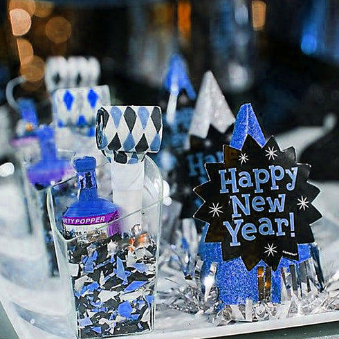 Royal Blue Twinkling Metallic Foil Star Confetti Sprinkles - 300pcs
