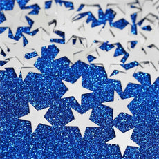 Twinkling Metallic Foil Wedding-Party Star Confetti Sprinkles-300 PCS-Silver