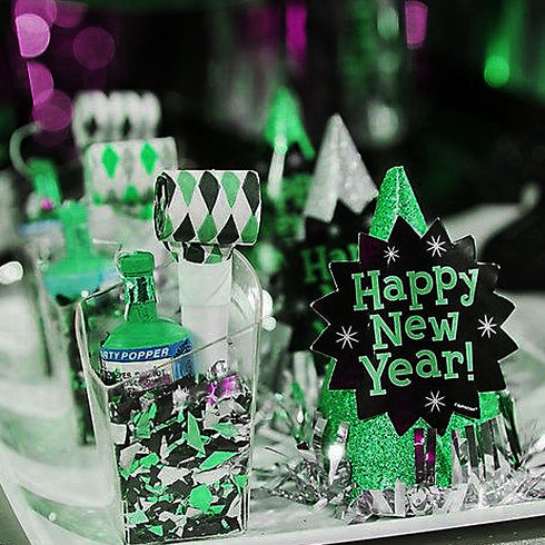 Green Twinkling Metallic Foil Star Confetti Sprinkles - 300pcs
