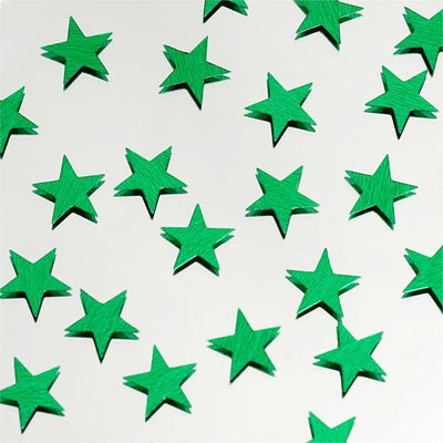 Twinkling Metallic Foil Wedding-Party Star Confetti Sprinkles-300 PCS-Green