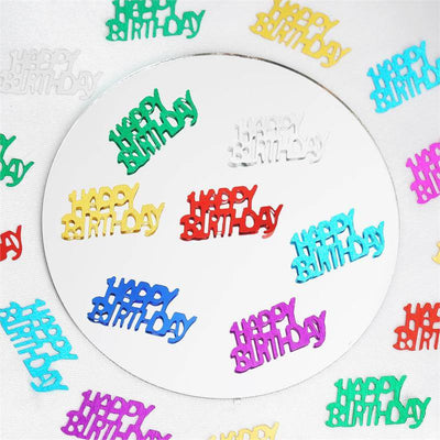 Metallic Foil Birthday Party Confetti-300PCS-Assorted
