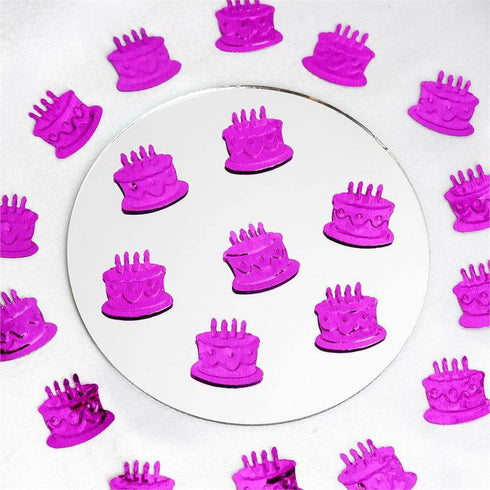 Metallic Foil Birthday Cake Confetti-300PCS-Purple