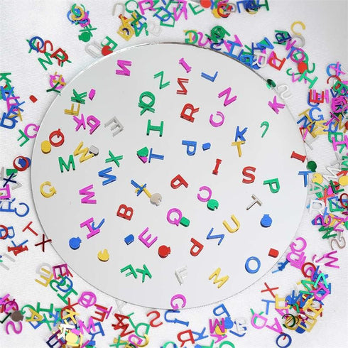 Metallic Foil Wedding Party Alphabet Confetti Sprinkles-300PCS-Assorted