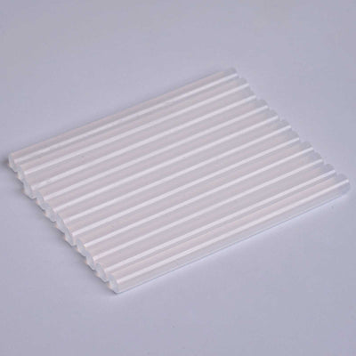 "Glitter Hot Melt Glue Sticks - 7mm x 4"" - Clear - 10pcs"