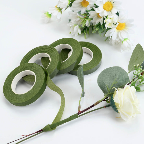 "2 Pack | 90FT 1/2"" Green Floral Tape for Stem Wrap"