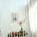 12ft Crystal Diamond Beaded Curtain with Plastic Rod and Adjustable Hooks
