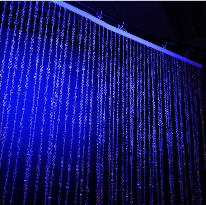 PRINCESS-Style Endless Diamond Curtain Backdrops 20ft x 3ft Clear Diamonds w/ Metal Rod Top