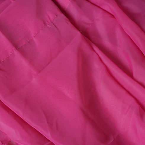 10FT Fire Retardant Fushia Sheer Curtain Panel Backdrops With Rod Pockets - Premium Collection