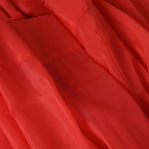 10FT Fire Retardant Red Sheer Curtain Panel Backdrops With Rod Pockets - Premium Collection
