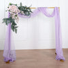 18Ft | Lavender Sheer Organza Curtain Panels, Window Scarf Valance Wedding Arch Draping Fabric