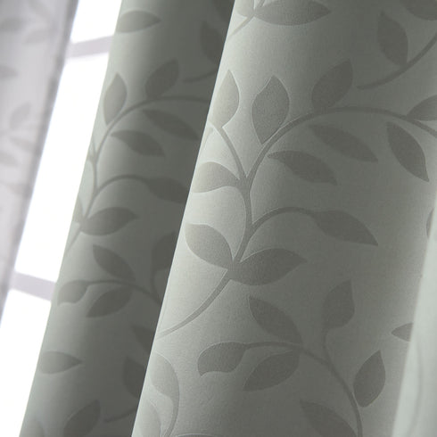 "Blackout Curtains Embossed 52x108"" Charcoal Grey Pack of 2 Thermal Insulated With Chrome Grommet Window Treatment panels"