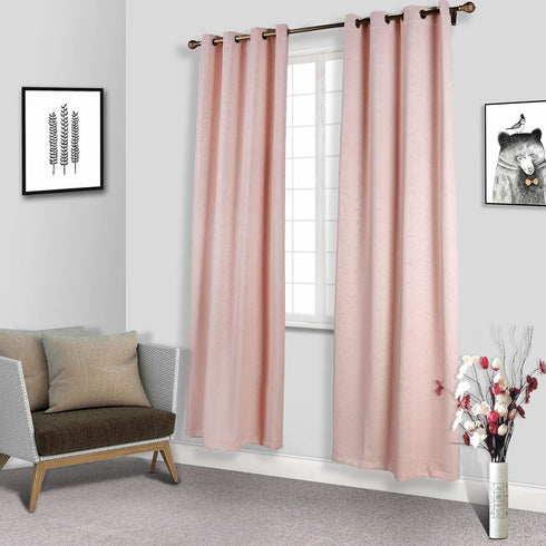 "Pack of 2 | 52""x108"" Embossed Thermal Blackout Soundproof Curtains With Chrome Grommet Window Treatment Panels - Rose Gold 