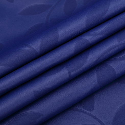 "Pack of 2 | 52""x108"" Navy Blue Embossed Thermal Blackout Curtains With Chrome Grommet Window Treatment Panels"