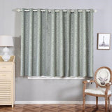 "2 Pack | 52""x64"" Charcoal Grey Embossed Thermal Blackout Curtains With Chrome Grommet Window Treatment Panels"