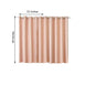 "Pack of 2 | 52""x64"" Embossed Thermal Blackout Curtains With Chrome Grommet Window Treatment Panels - Rose Gold 