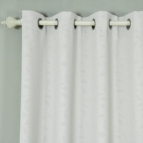 "Blackout Curtains Embossed 52x64"" Silver Pack of 2 Thermal Insulated With Chrome Grommet Window Treatment panels"