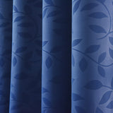 "Blackout Curtains Embossed 52x84"" Navy Blue Pack of 2 Thermal Insulated With Chrome Grommet Window Treatment panels"