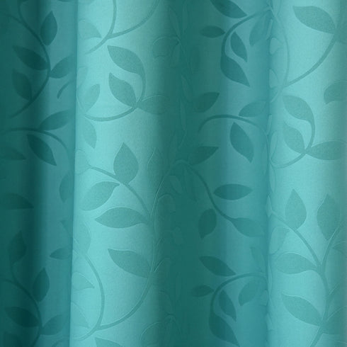 "Blackout Curtains Embossed 52x84"" Teal Pack of 2 Thermal Insulated With Chrome Grommet Window Treatment panels"