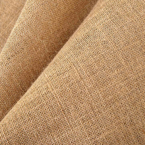 "2 Pack 52x96"" Eco Friendly Burlap Jute Rustic Home Curtain Backdrop Panels With Rod Pocket"