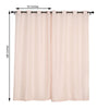 Window Semi Sheer Curtains Window Treatments Linen Curtains Home Decor - Rose Gold | Blush