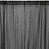Pack of 2 | 5FTx10FT Black Premium Fire Retardant Fabric Floral Lace Sheer Curtain With Rod Pockets