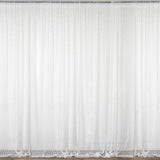 Fire Retardant Sheer Floral Lace Premium Curtain With Rod Pockets - Ivory - 5FTx10FT - Set Of 2
