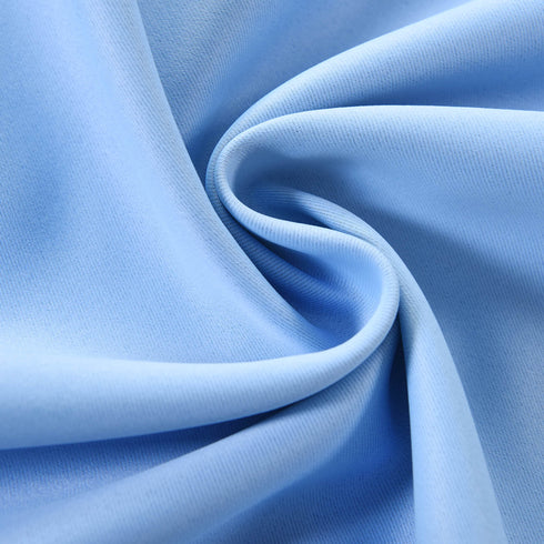 "Blackout Curtains 52x108"" Serenity Blue Pack of 2 Thermal Insulated With Chrome Grommet Window Treatment Panels"